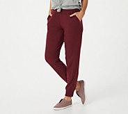 Denim & Co. Active Regular Brushed Heavenly Jersey Jogger Pants - A388254