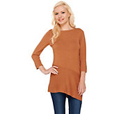 Linea by Louis DellOlio Whisper Knit Asymmetrical Hem Tunic - A263355