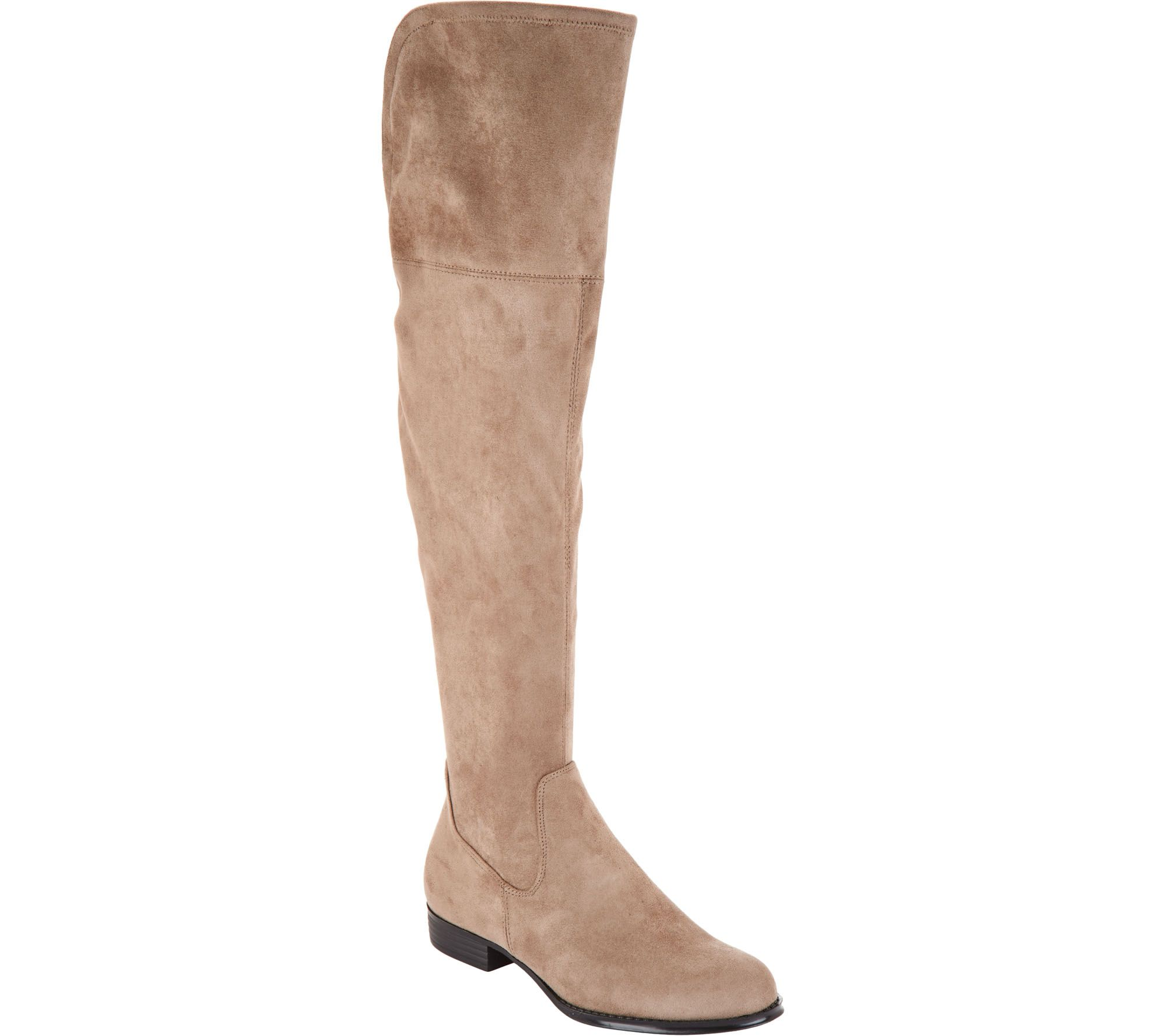 c266ec5c02a Isaac Mizrahi Live! Faux Suede Over-the-Knee Boots - Page 1 — QVC.com