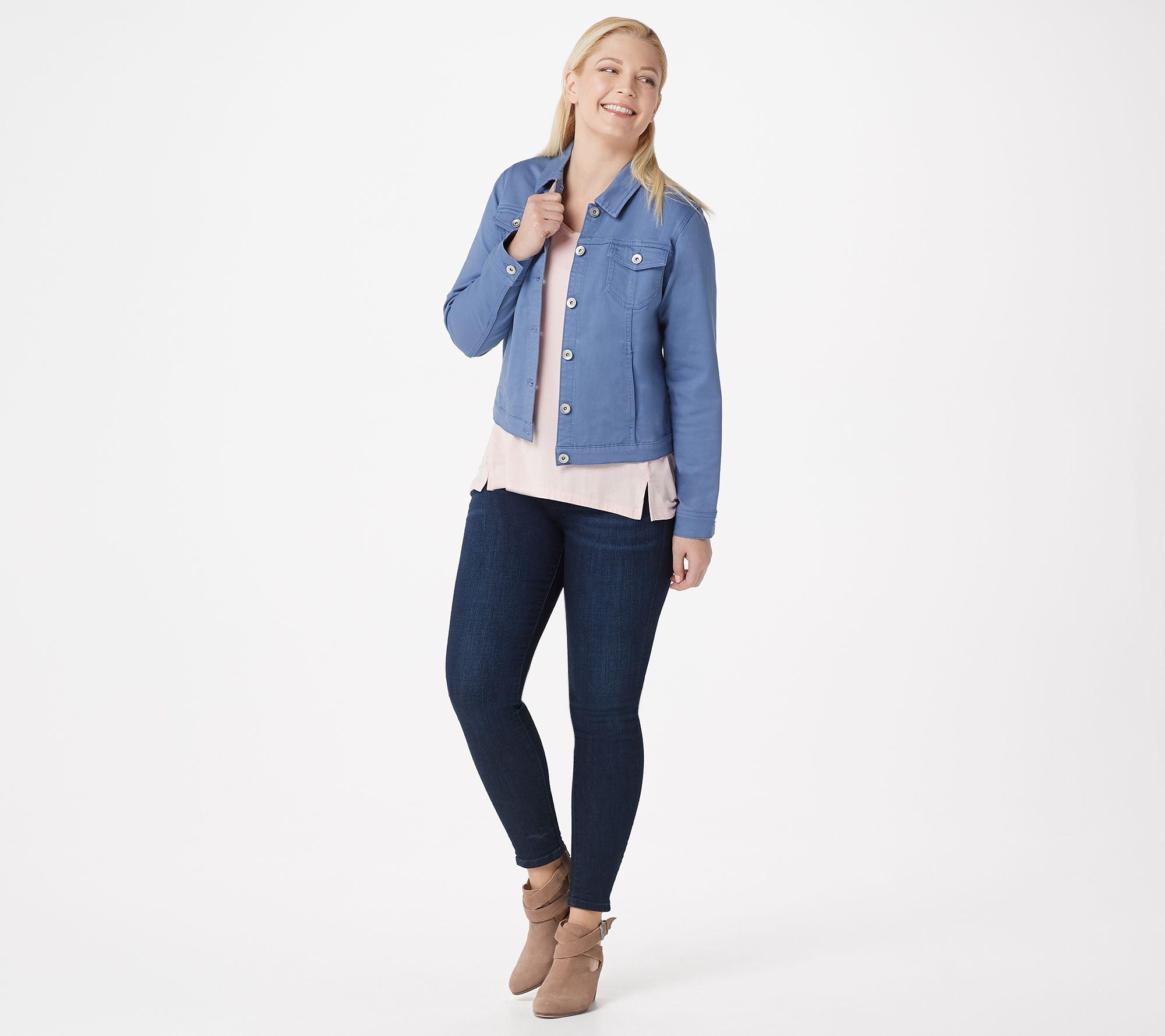 32e03eacaf8f Susan Graver Stretch Twill Button Front Jacket - Page 1 — QVC.com