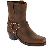 Frye Leather Pull On Ankle Boots - Harness 8R - A305255