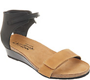 Naot Leather High Back Strap Wedge Sandals - Prophecy - A305655