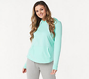 AnyBody Loungewear Cozy Knit Light French Terry Hoodie - A306955