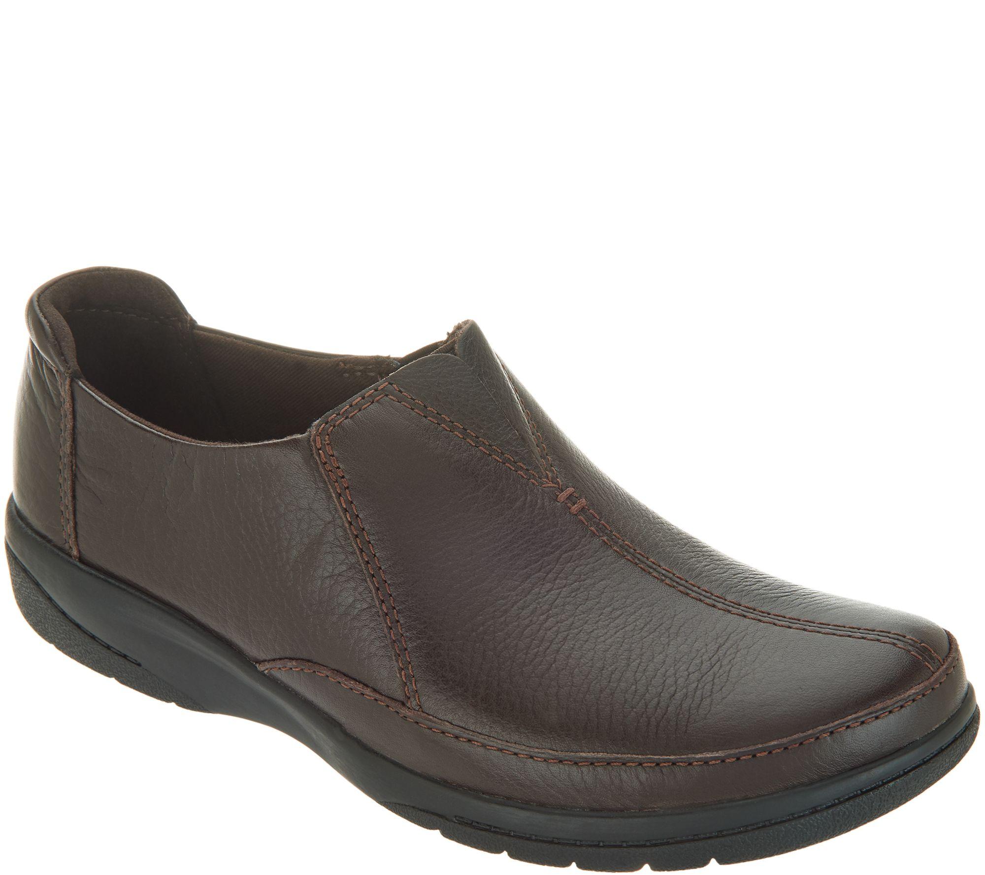 ae663b01bc70 Clarks Leather Slip-On Shoes - Cheyn Bow - Page 1 — QVC.com