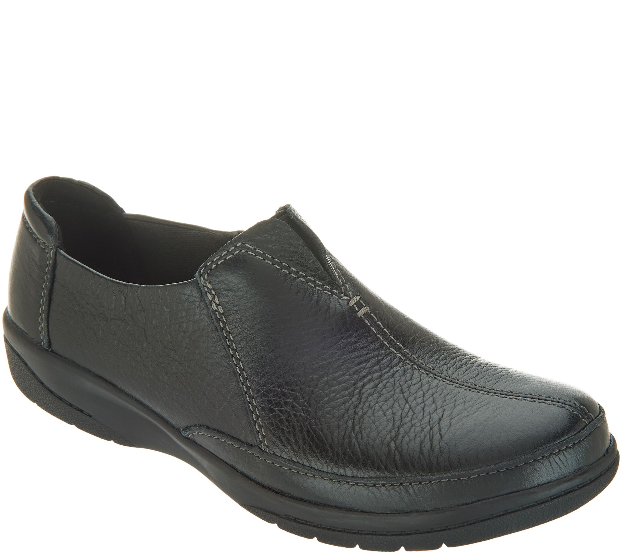 5859ee08e46 Clarks Leather Slip-On Shoes - Cheyn Bow - Page 1 — QVC.com