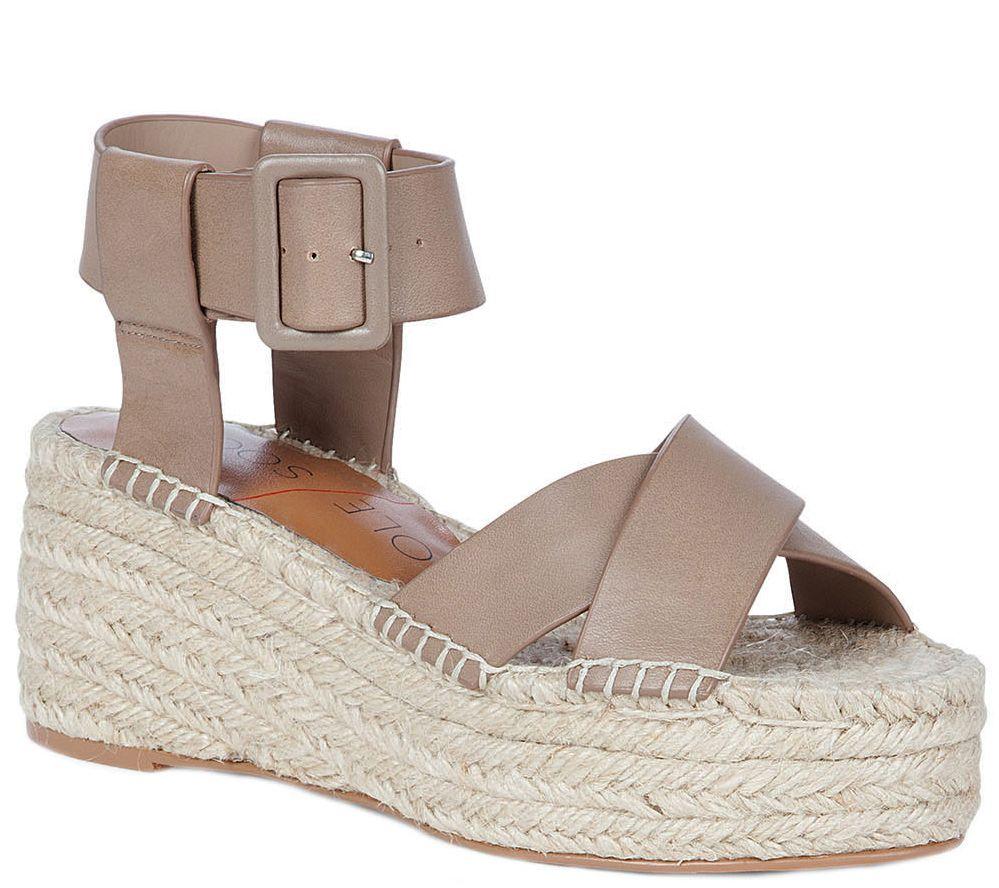 b6a3609b64b Sole Society Flatform Espadrille Sandals - Audrina — QVC.com