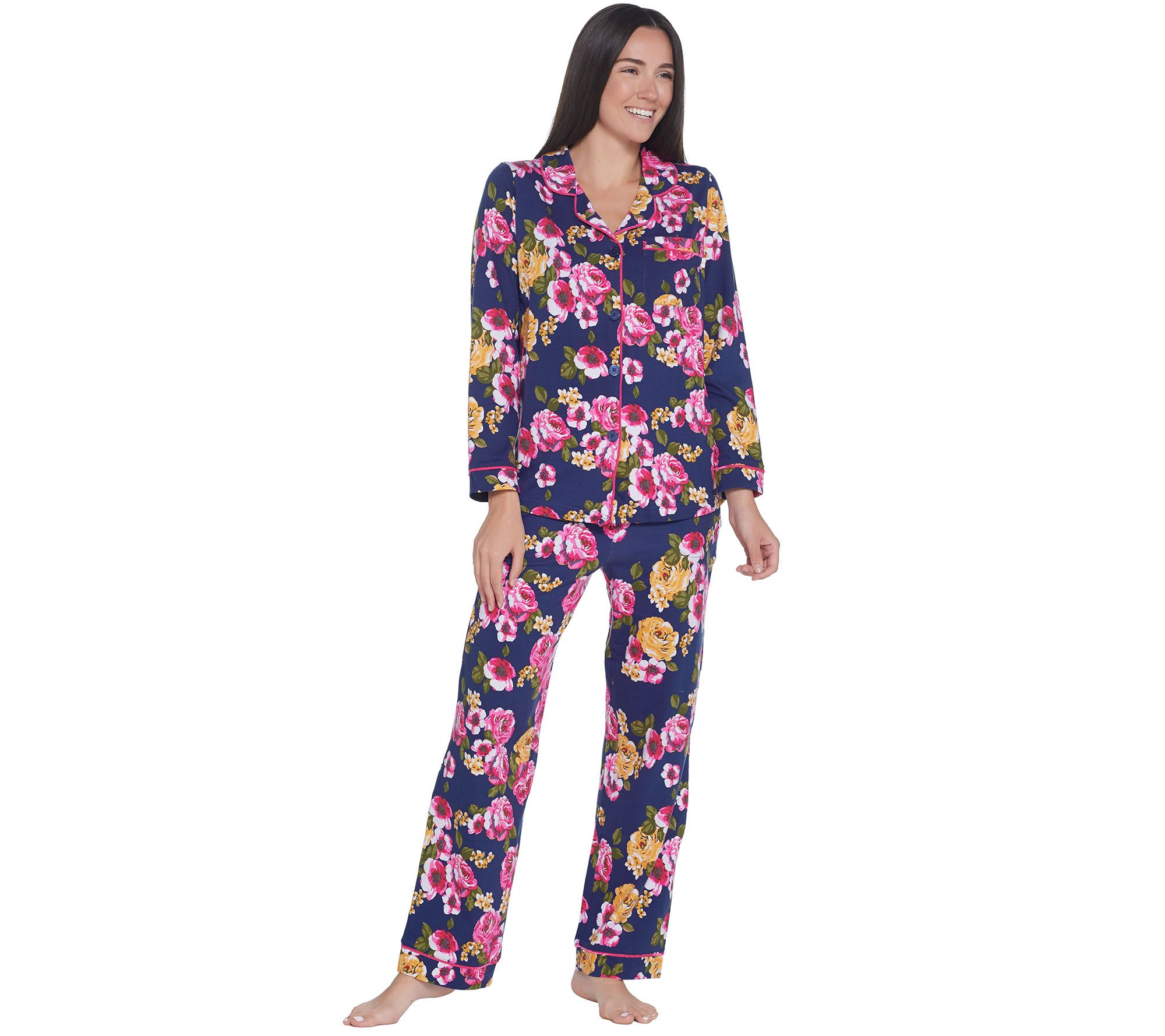 b057227414 Beauty Sleep by BedHead Cotton Stretch Notch Collar Pajama Set - Page 1 —  QVC.com