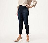 Joan Rivers Petite Stretch Denim Signature Ankle Pants - A347355
