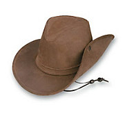 Minnetonka Aussie Side Snap Leather Hat - A142656