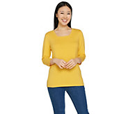 Susan Graver Modern Essentials Cotton Modal Square Neck Top - A286556