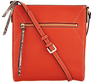 G.I.L.I. Pebble Leather Flat Crossbody - A293056