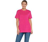 Denim & Co. Essentials Round-Neck Short Sleeve Knit Terry Top - A307456