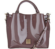 As Is Dooney & Bourke Patent Small Brenna Satchel - A309656