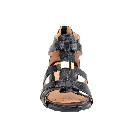 5fd248f58ce Sofft Bernia Gladiator Wedge Sandals - Page 1 — QVC.com