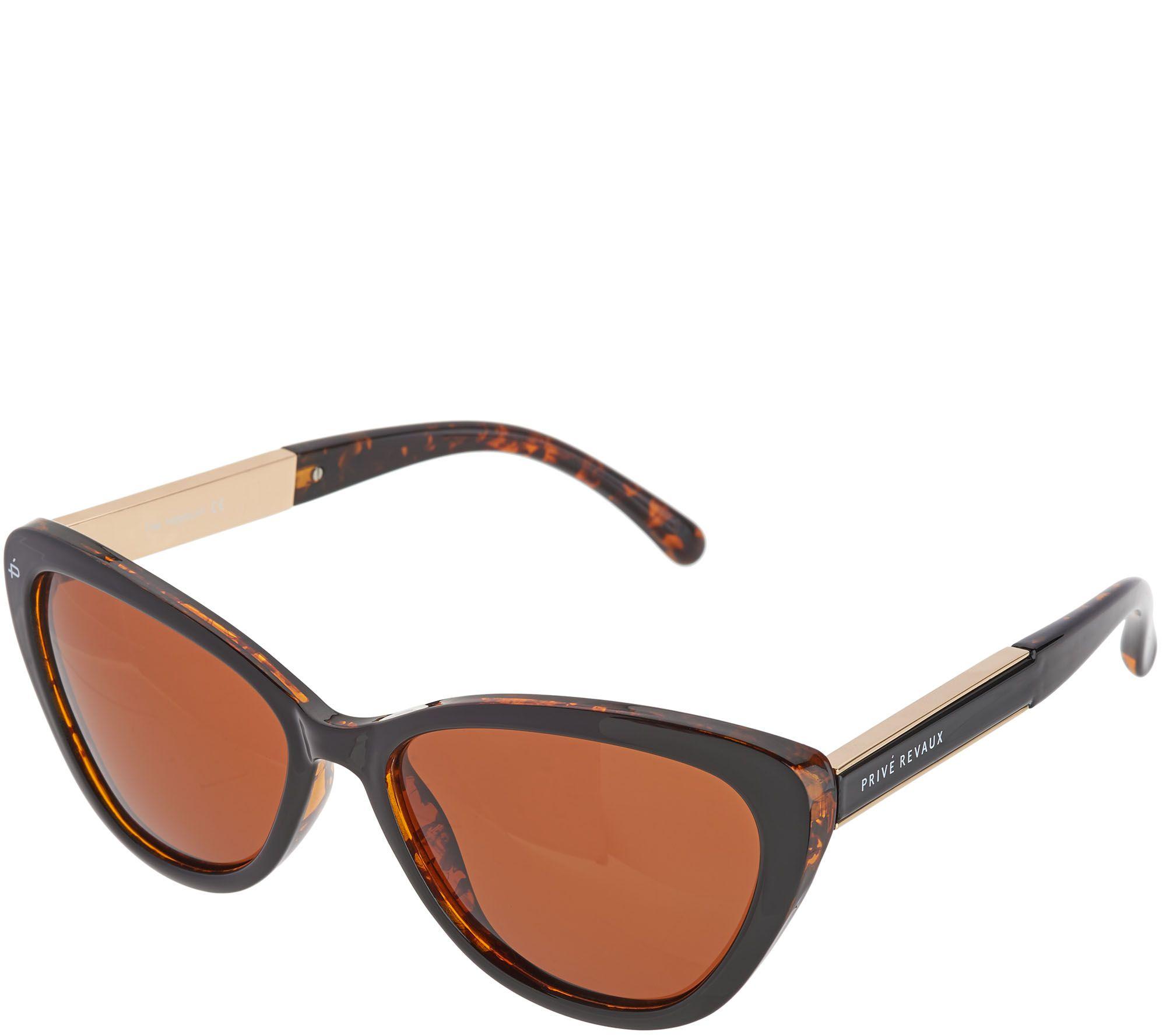 87b0f9c718338 Prive Revaux Hepburn Cat-Eye Polarized Sunglasses — QVC.com