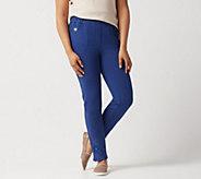 Quacker Factory Regular DreamJeannes Slim-Leg Ankle Pants - A351156