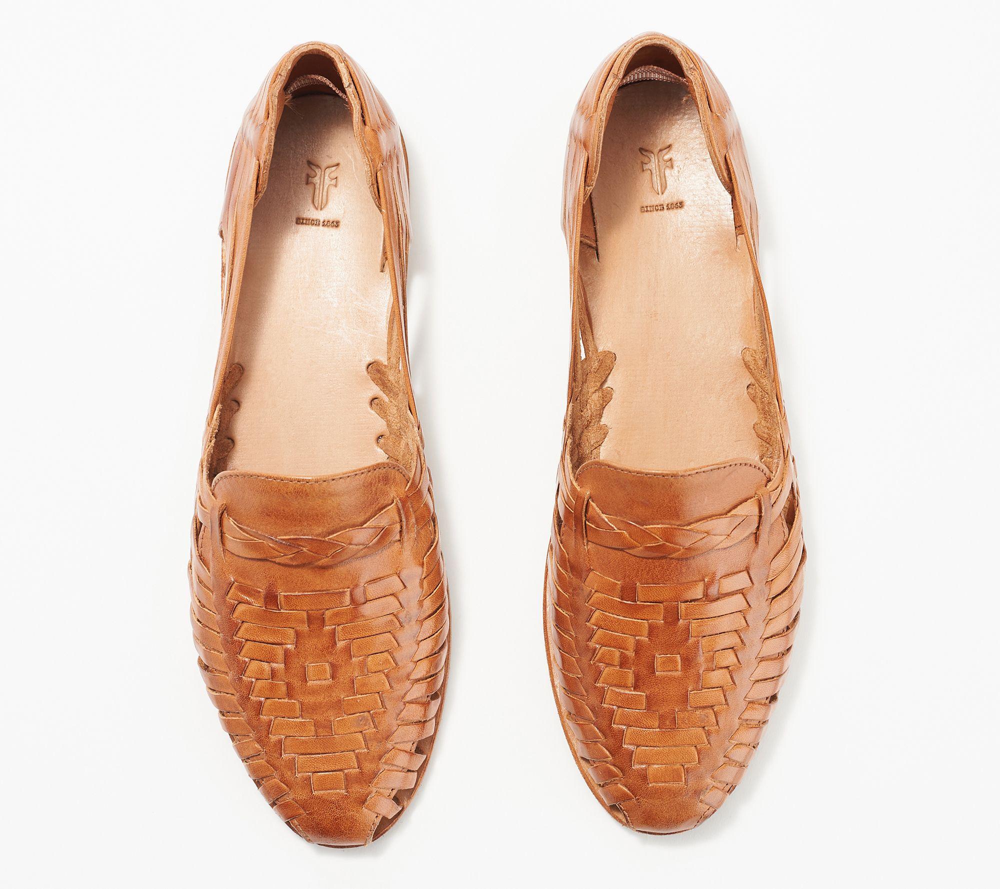 0be160f017d Frye Leather Slip-On Sandals - Heather Huarache — QVC.com