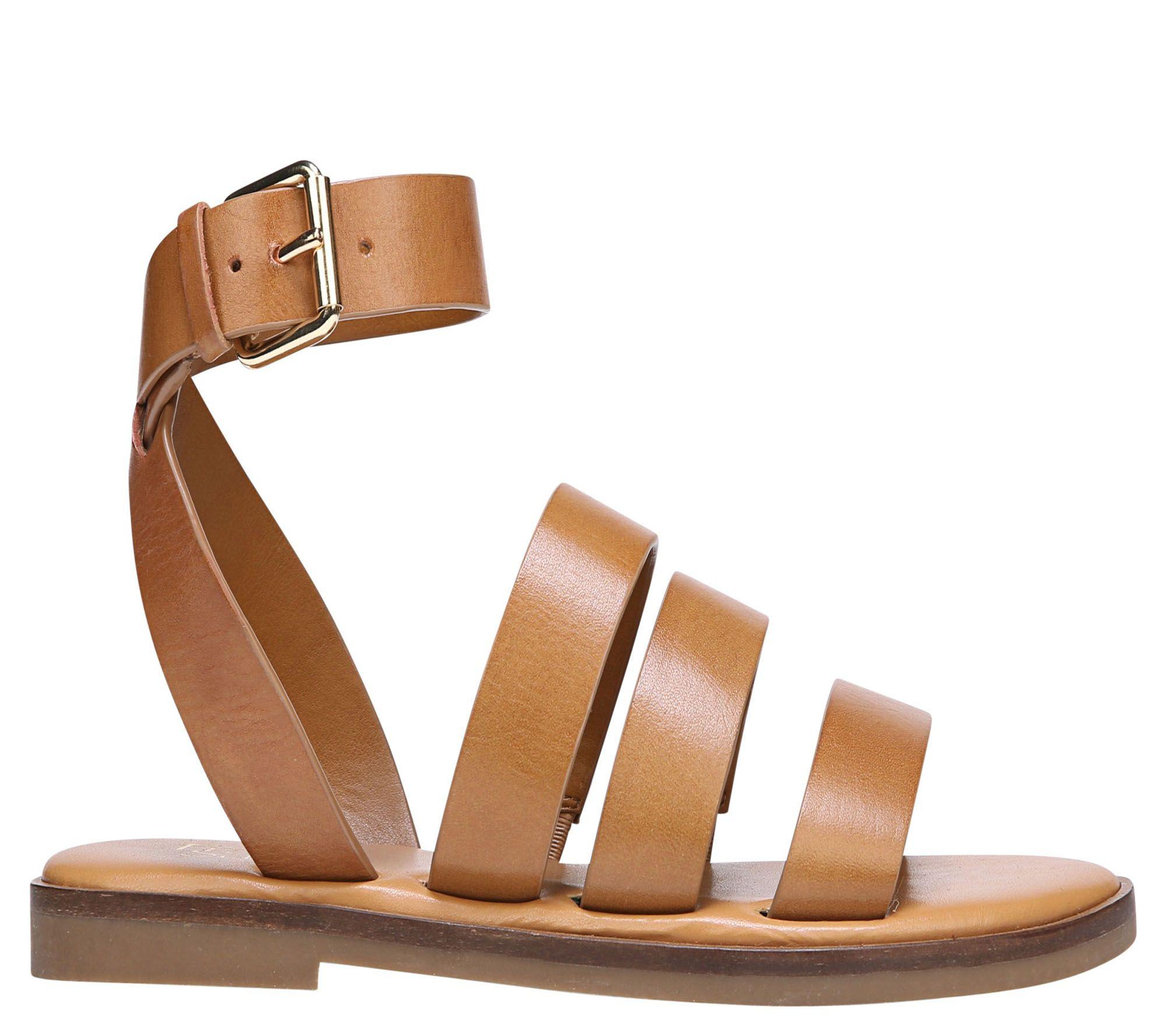 b606baf59976 Franco Sarto Strappy Flat Sandals - Kyson - Page 1 — QVC.com