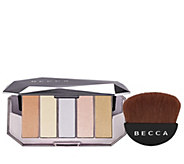 BECCA Ocean Jewels Highlighter Palette & Half Moon Brush - A413556