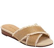Aerosoles Fabric Cross Strap Slide Sandals - Just A Bit - A414256