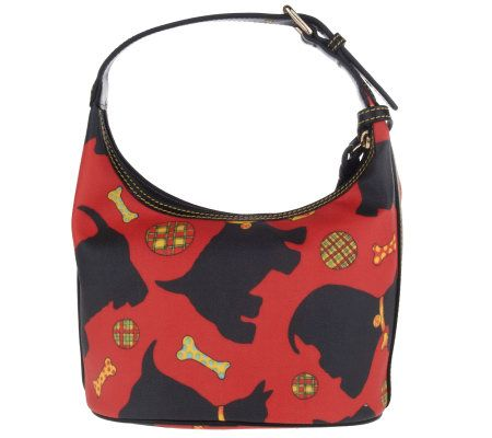 Dooney Bourke Scottie Dog Signature Coated Bucket Bag Page 1 Qvc