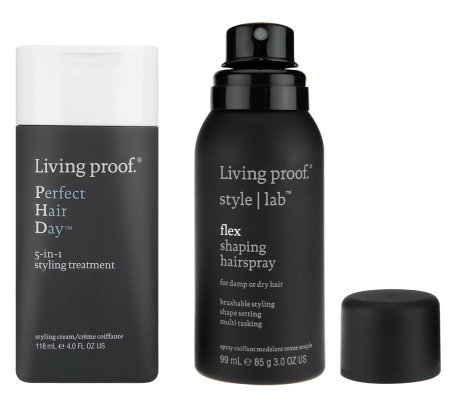 qvc hair styling products living proof hair day styling treatment and flex 6929