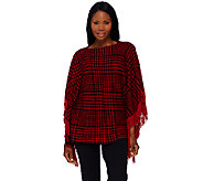 Layers by Lizden Marvelush Plaid Poncho with Fringe - A268457