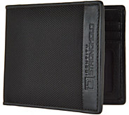 ID Stronghold RFID Mens Nylon and Leather Wallet - A286157