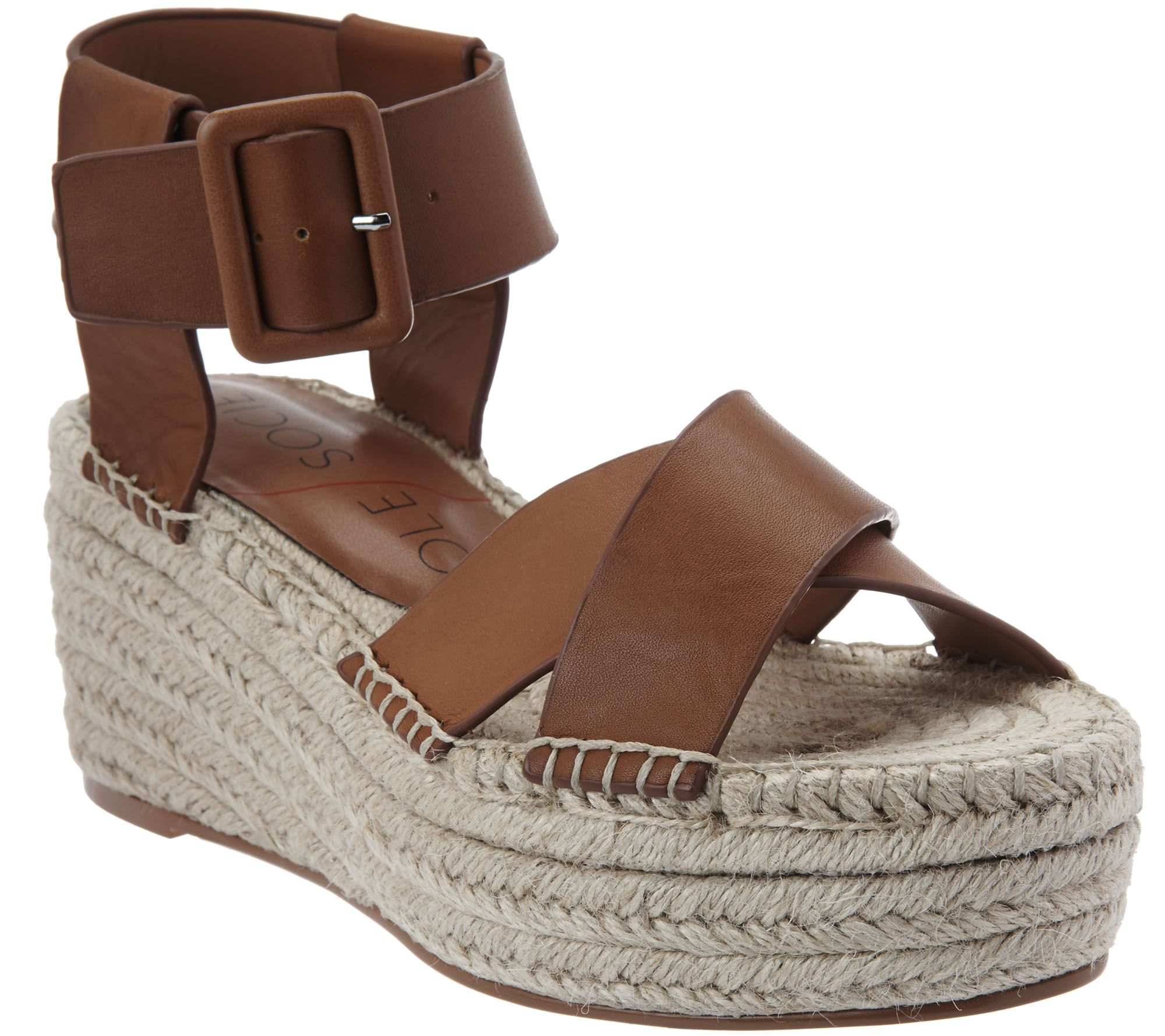 6443c7b905f7 Sole Society Leather Espadrille Platform Wedges - Audrina - Page 1 — QVC.com