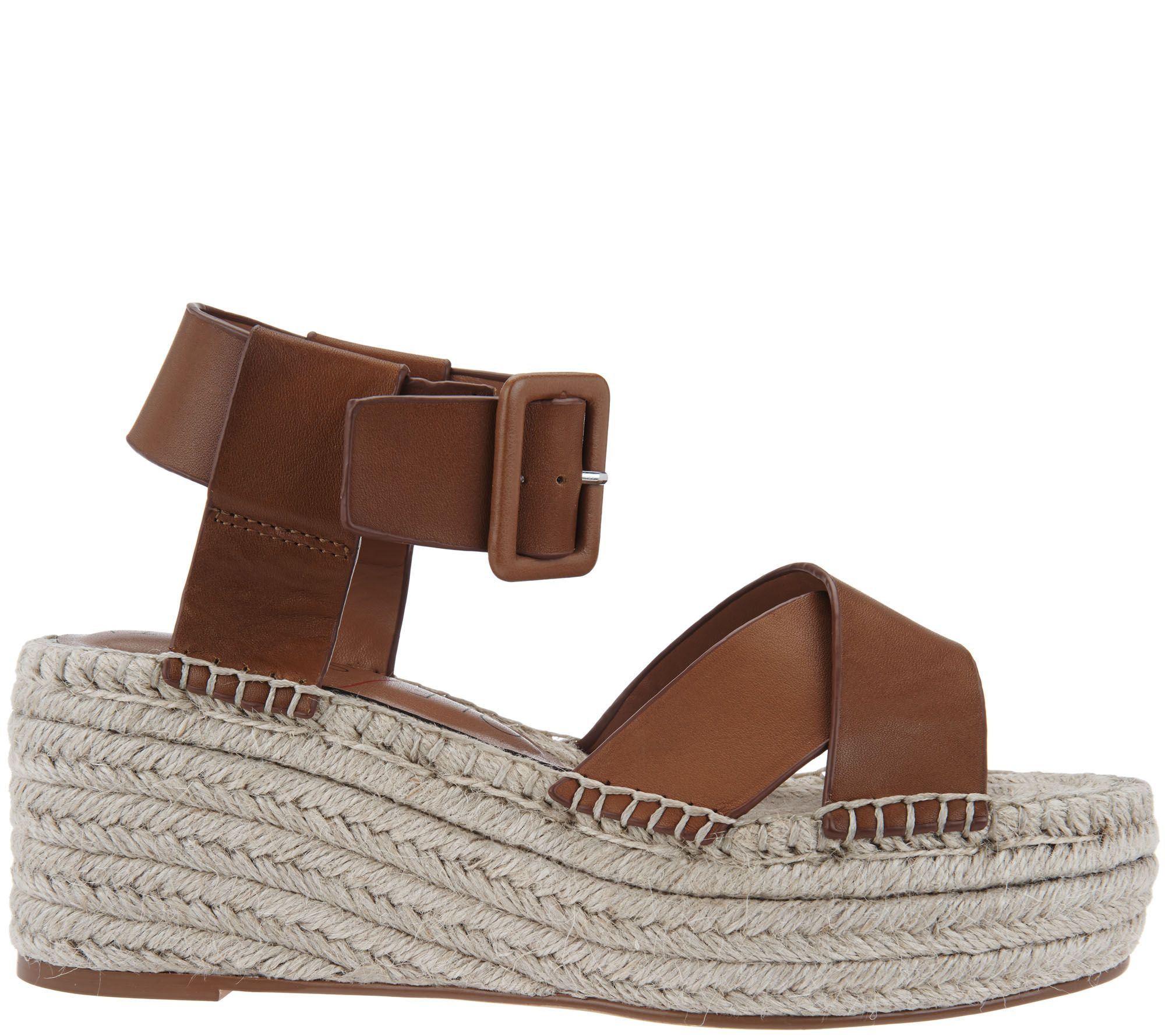 d9286a8f205 Sole Society Leather Espadrille Platform Wedges - Audrina - Page 1 — QVC.com