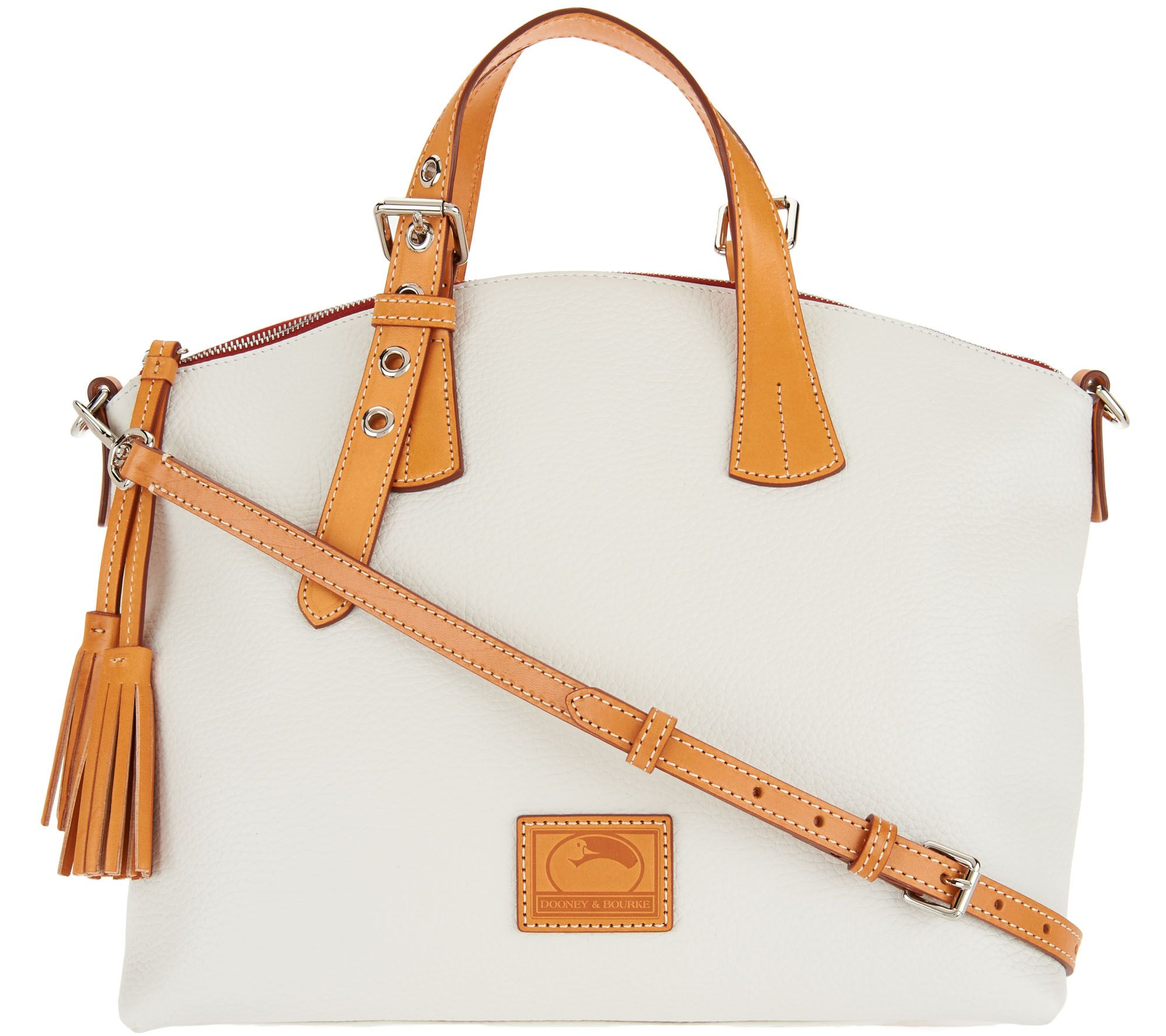 6623a1cf79bd Dooney   Bourke Pebble Leather Trina Satchel - Page 1 — QVC.com