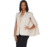 H by Halston Stretch Suiting Cape Blazer with Front Closure - A301957