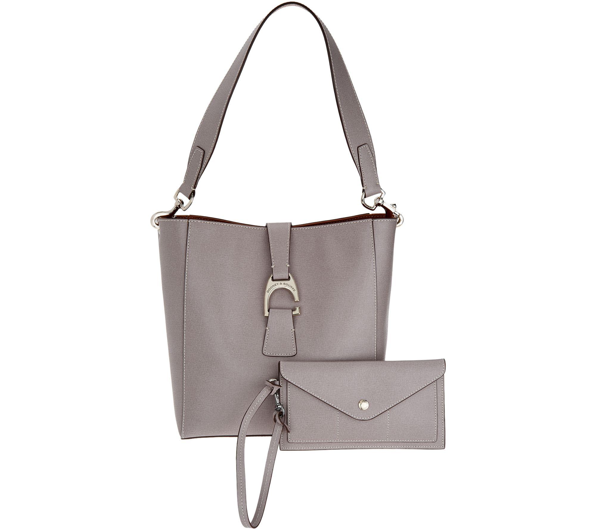 0b3cc3325d7 Dooney   Bourke Saffiano Leather Shoulder Bag - Ashby - Page 1 — QVC.com