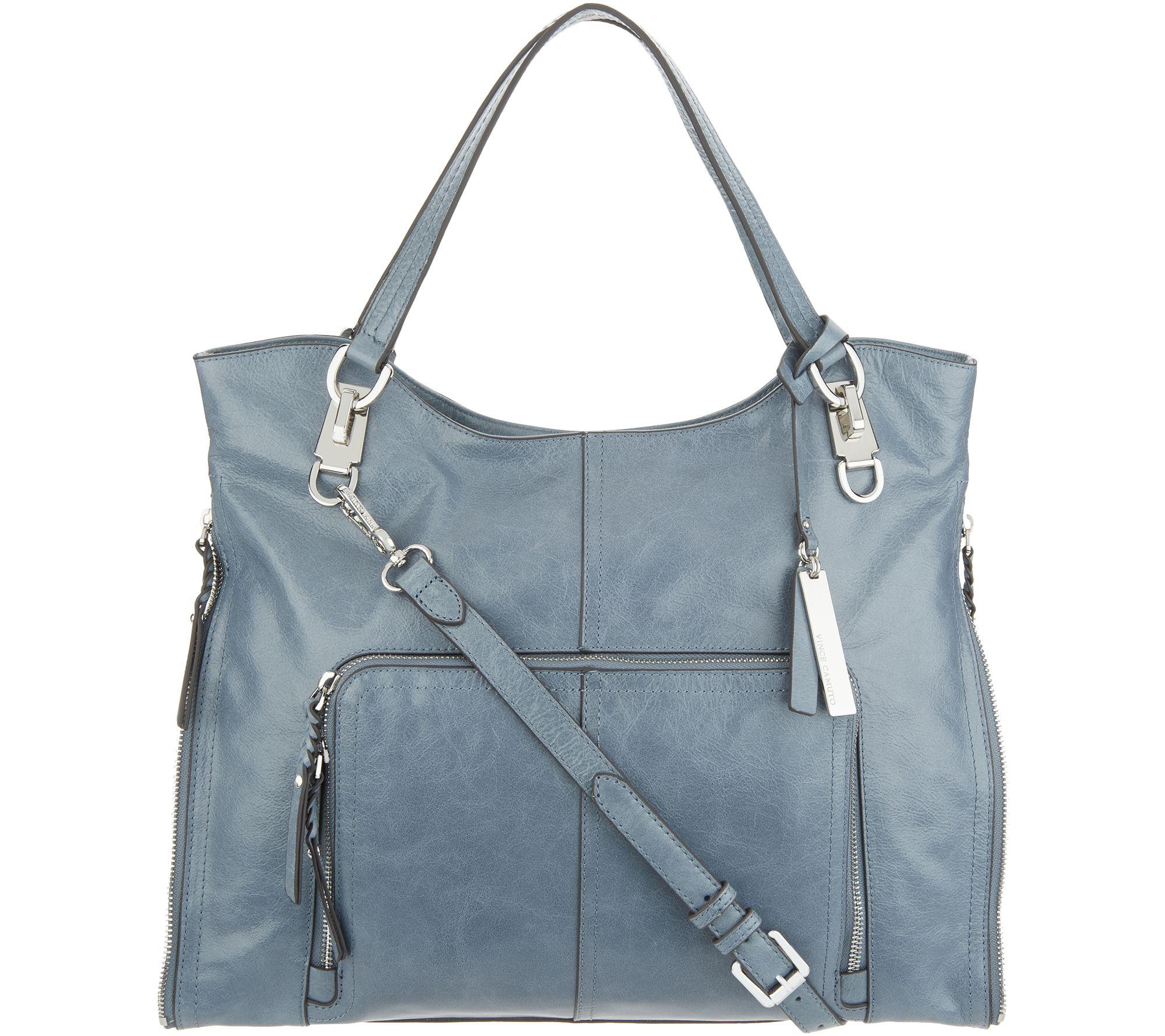 e080e012196 Vince Camuto Leather Tote Bag - Narra - Page 1 — QVC.com