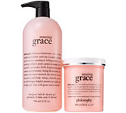 philosophy grace & love shower gel & luminous body creme kit - A341857
