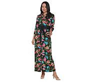 BROOKE SHIELDS Timeless Petite Knit Maxi Dress with Belt - A341957