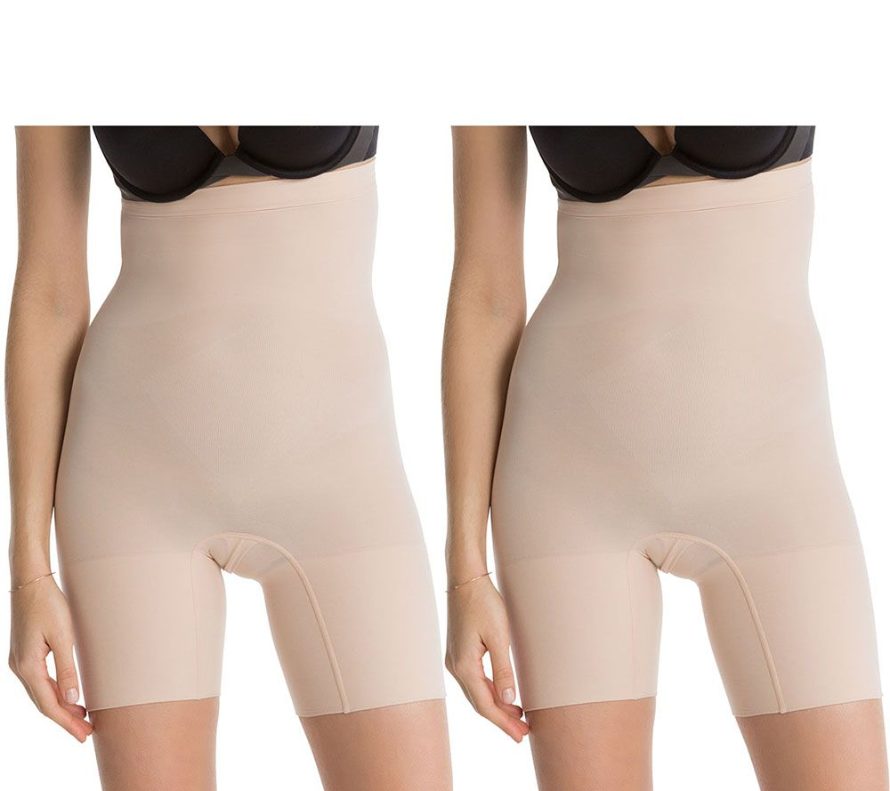 b2bad559ffbcf Spanx Higher Power High Waisted Shaping Short Set of Two - Page 1 — QVC.com