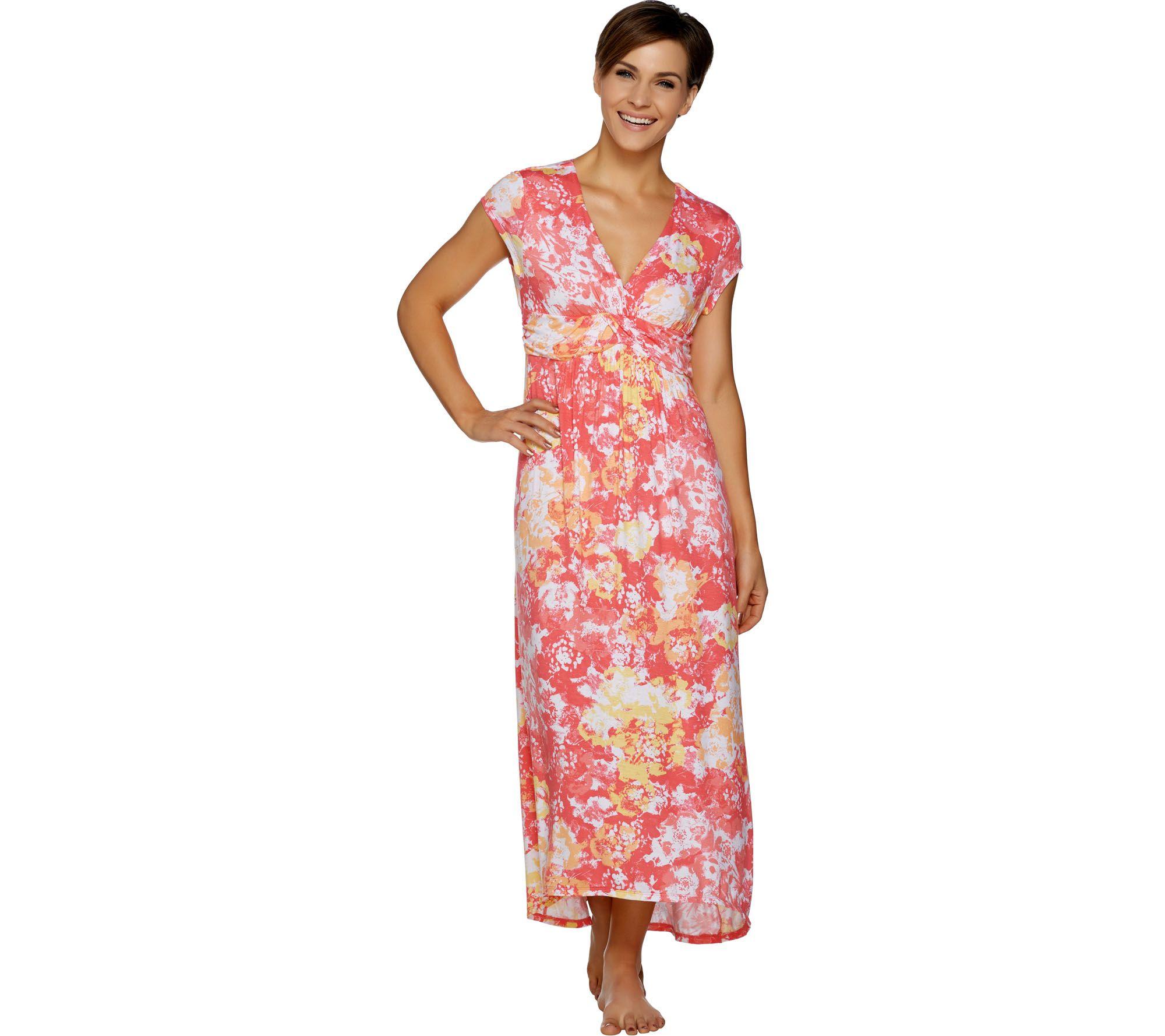 Carole Hochman Petite Woodblock Floral Lounge Dress Set - Page 1 ...