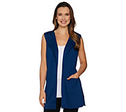 Joan Rivers Open Front Vest with Pockets - A288758
