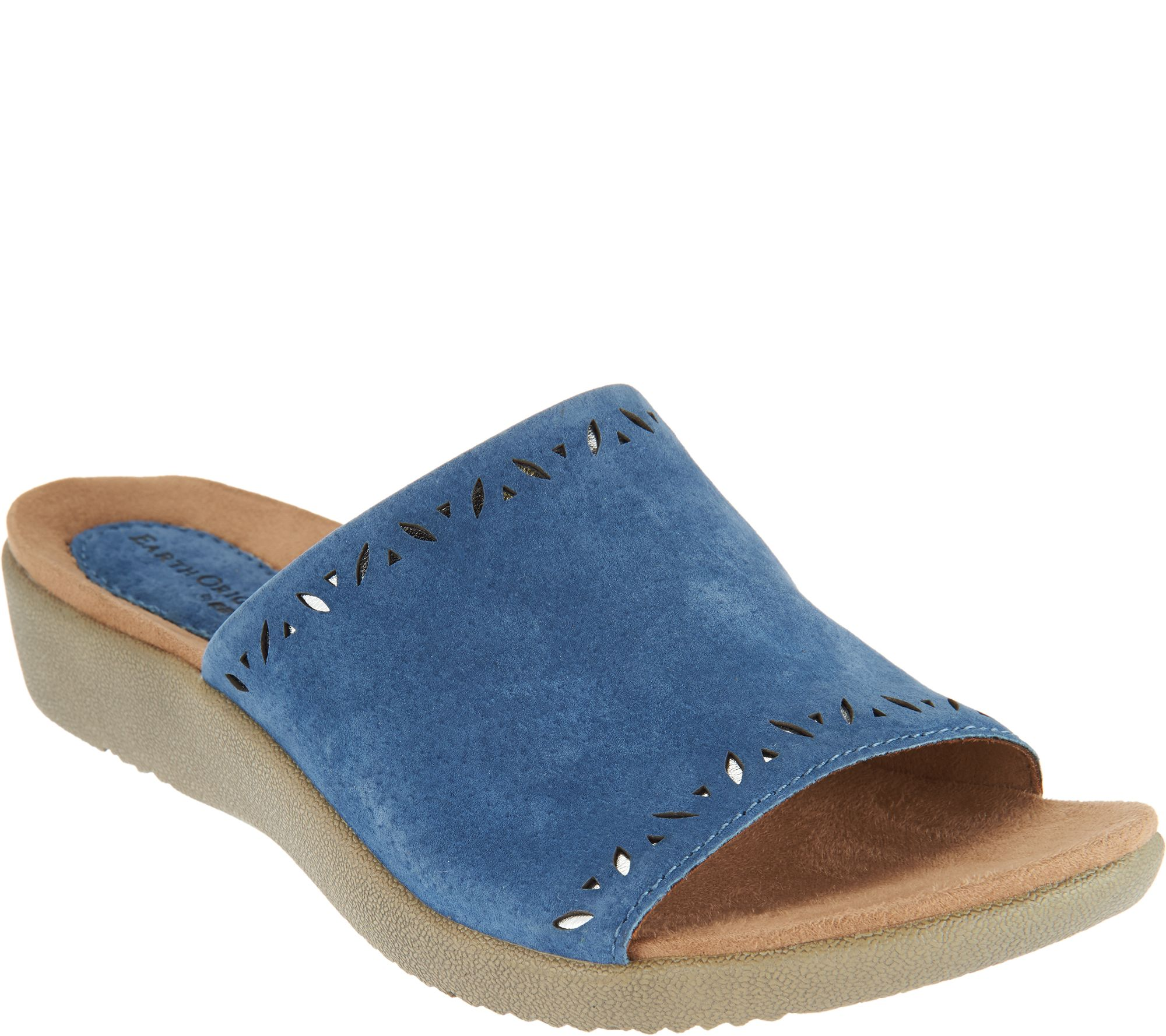 cdb45f35dfa9 Earth Origins Leather Slide Sandals - Valorie - Page 1 — QVC.com