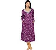 Carole Hochman Petite Etched Floral Interlock Long Gown - A294058