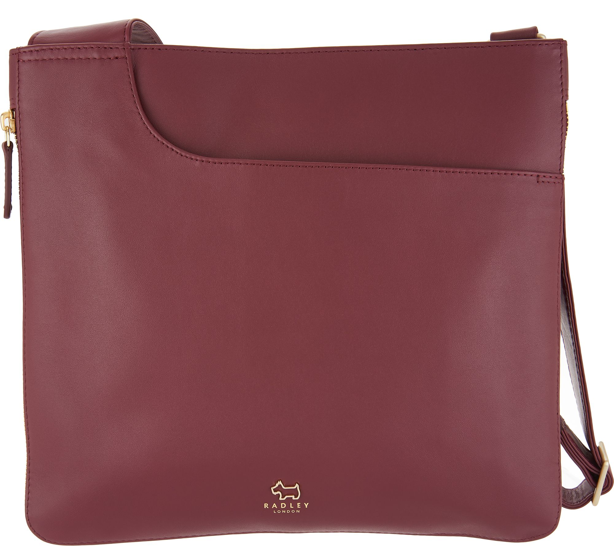 72168f24ddaf09 RADLEY London Pocket Leather Large Zip-Top Crossbody - Page 1 — QVC.com
