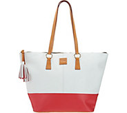 As Is Dooney & Bourke Smooth Leather Tobi Tote - A296658