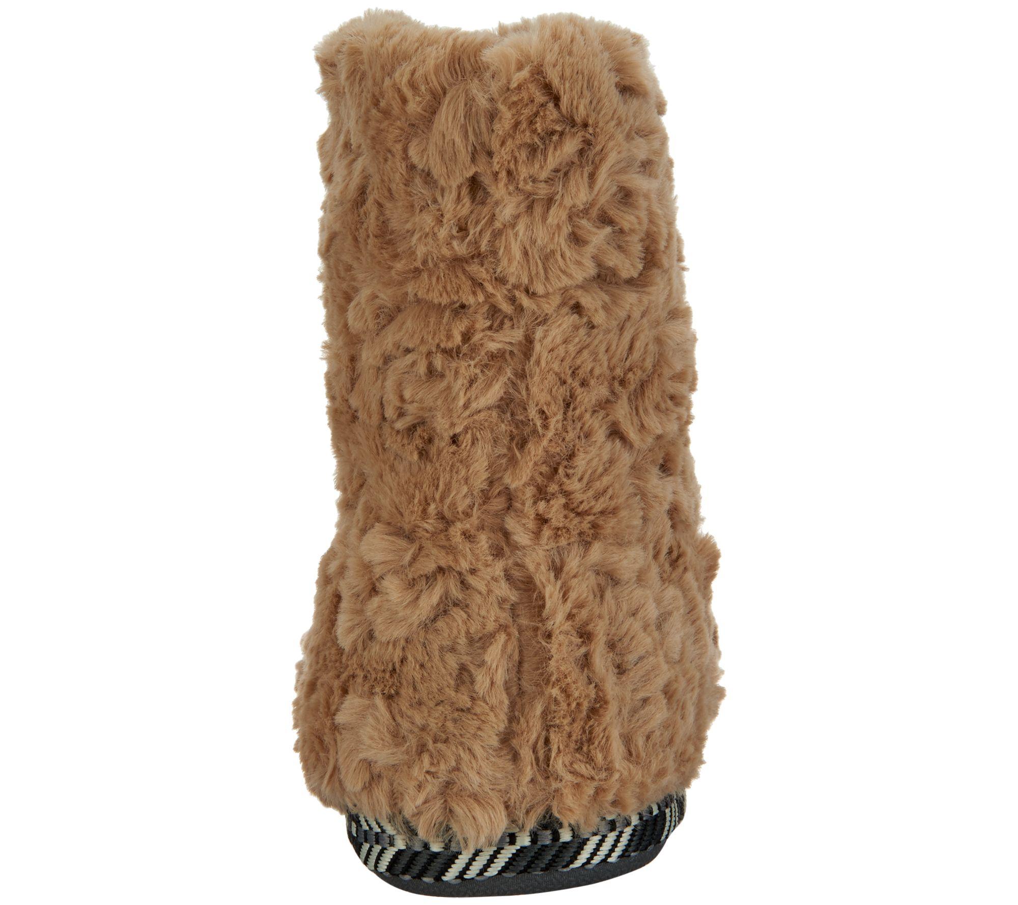 8840a793f8580 Cuddl Duds Faux Fur Zip-Up Boot Slippers — QVC.com