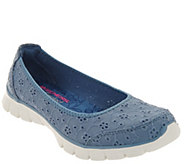 Skechers EZ Flex Floral Eyelet Skimmers - Natural Gleam - A304758