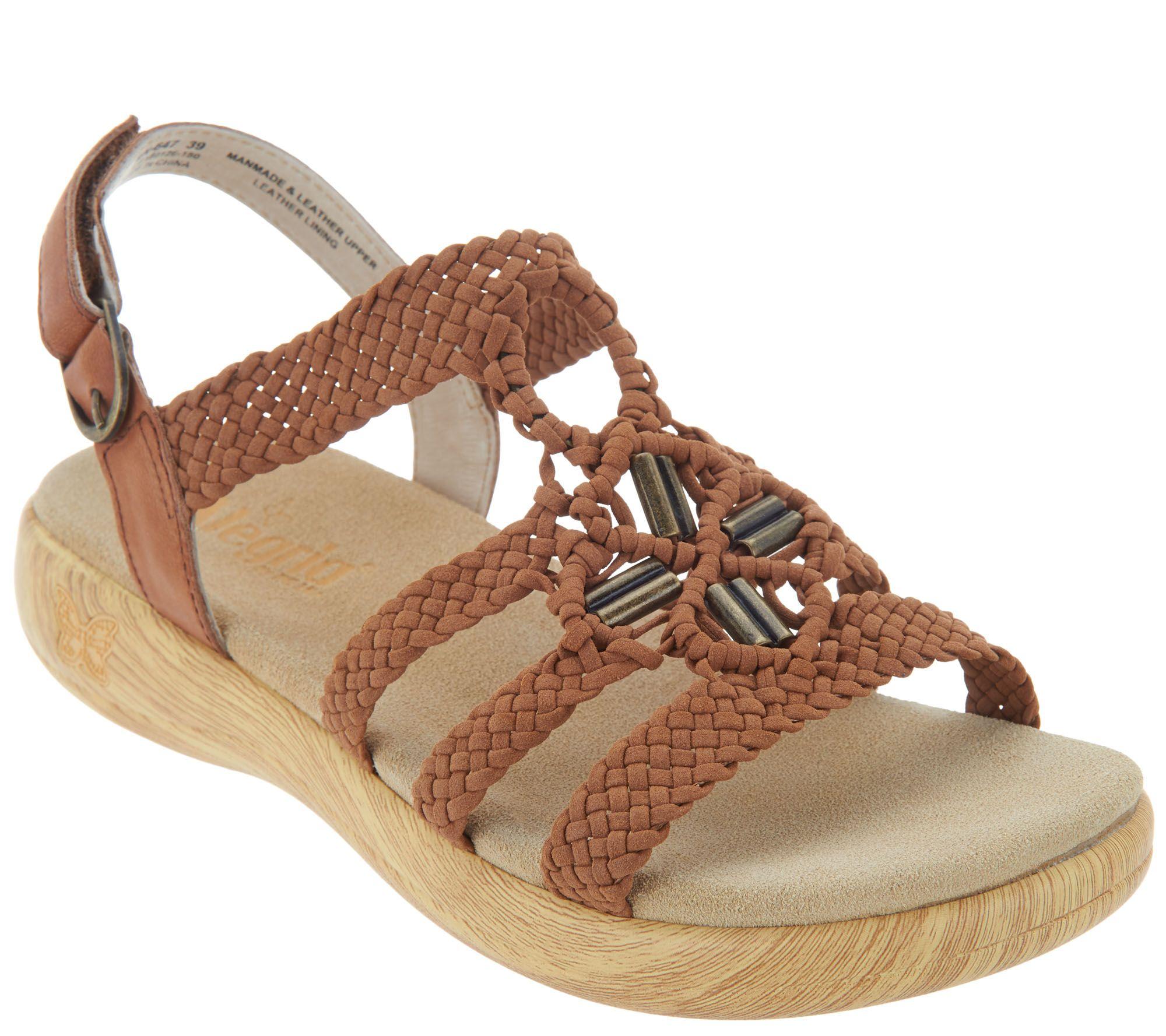 468c0f57808eab Alegria Braided Detail Sandals - Jena - Page 1 — QVC.com