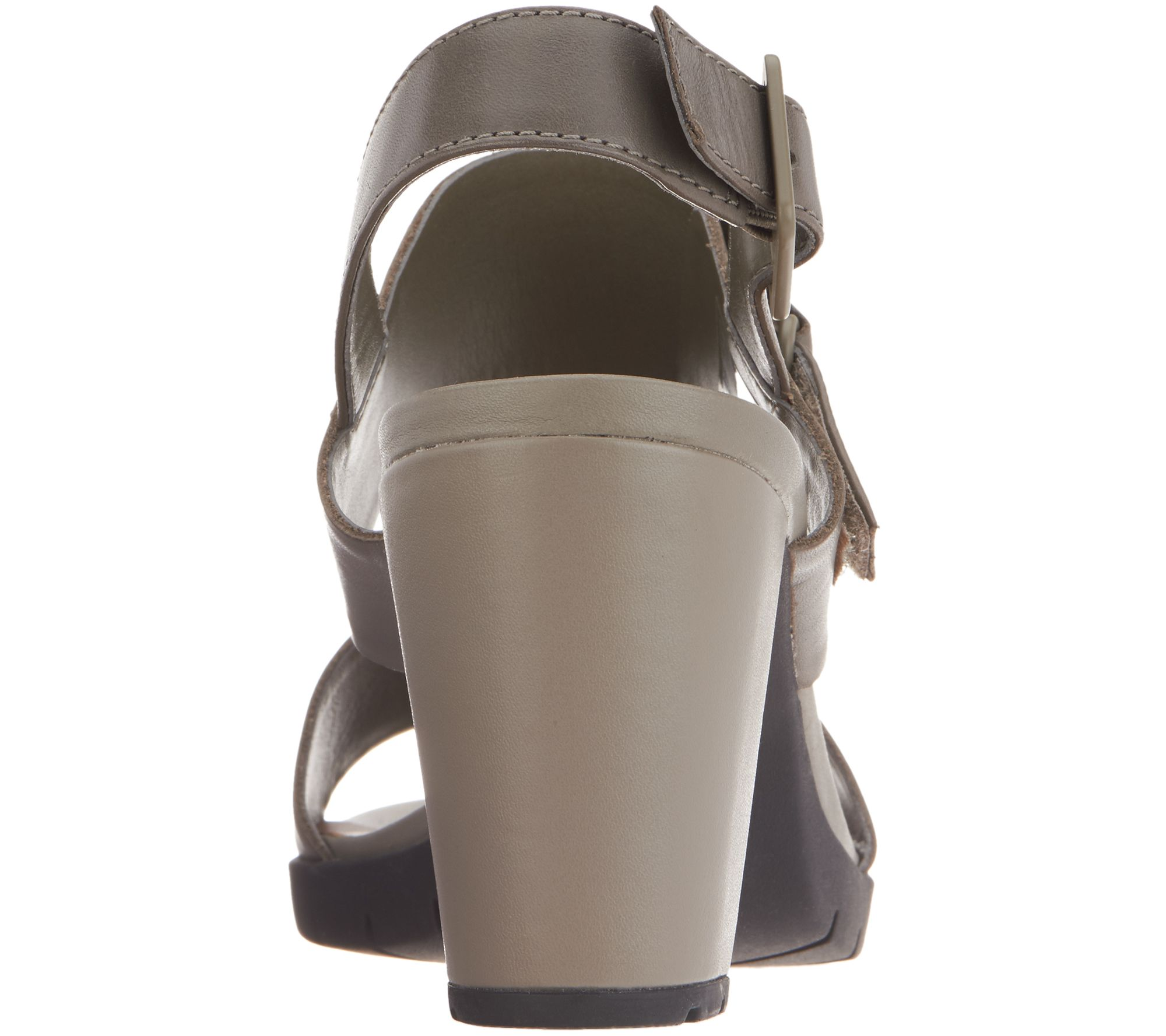 0f39d188c96 Clarks Leather Block Heel Adjustable Sandals - Kurtley Shine - Page 1 —  QVC.com