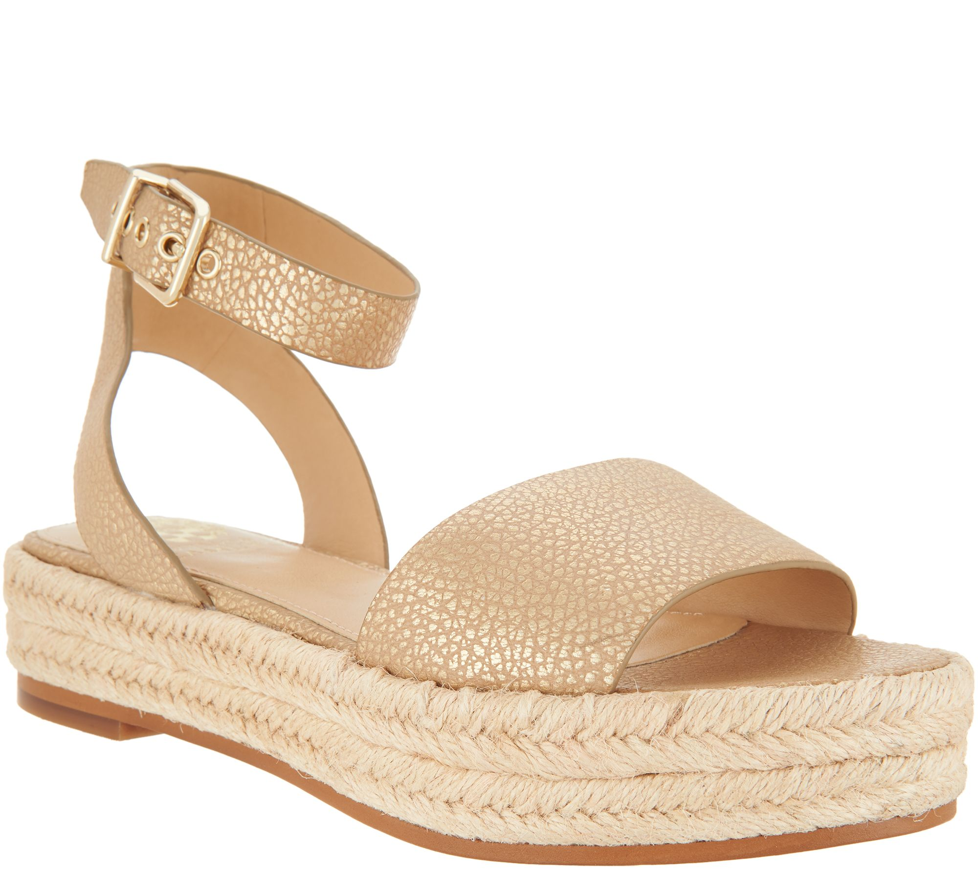3953db85cd9f Vince Camuto Leather Ankle Strap Espadrilles - Kathalia - Page 1 — QVC.com