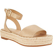 Vince Camuto Leather Ankle Strap Espadrilles - Kathalia - A306358