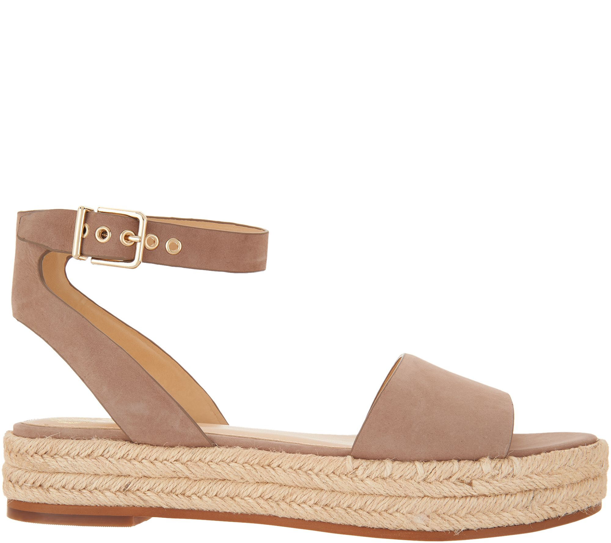 adf9872ff08 Vince Camuto Leather Ankle Strap Espadrilles - Kathalia — QVC.com